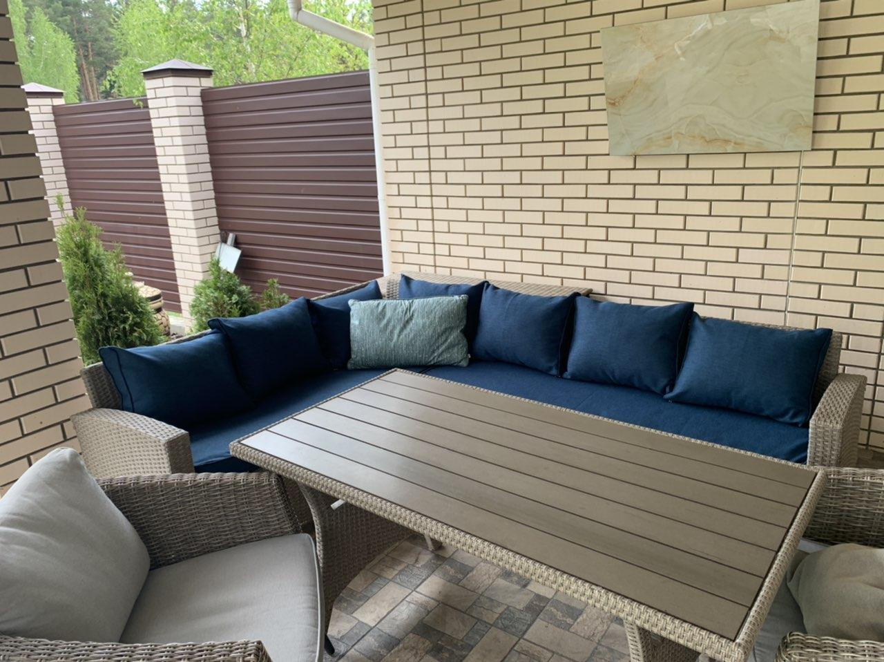 Комплект мебельных подушек на диван для террасы