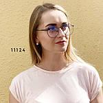 Іміджеві окуляри в чорній оправі, фото 2