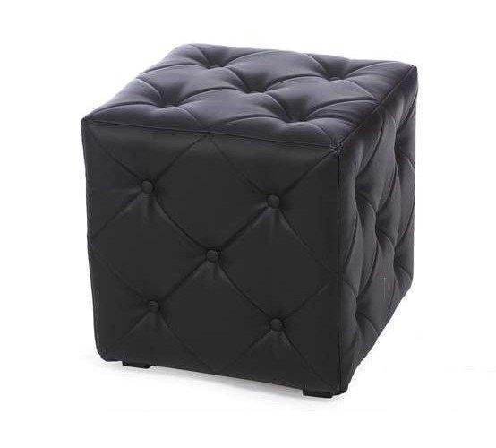 Пуф Ромби-1 Черный 40х40х42см ,пуфик,пуфики,пуф кожзам,пуф экокожа,банкетка,банкетки,пуф куб,пуф фот