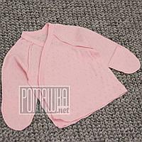 Летняя с дырочками р 62 1-3 мес хлопковая распашонка для новорожденных в роддом швы наружу АЖУР 4752 Розовый