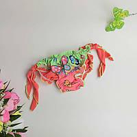 Купальные плавки на завязках для девочки с бабочками S-M р