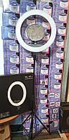 Кольцевая лампа led  55вт косметологическая 44.5см на штативе с креплением для телефона и зеркалом