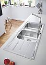 Grohe Мойка для кухни 1160 x 500 мм с эксцентриком, 2 чаши, матовая (31588SD0), фото 4