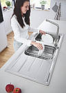 Grohe Мойка для кухни 1160 x 500 мм с эксцентриком, 2 чаши, матовая (31588SD0), фото 5