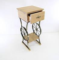 Мебель Тумба Колесо кованая.