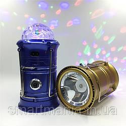 Кемпінговий ліхтар SH-5802 6LED+1W, вбудований акумулятор, Power bank, сонячна батарея