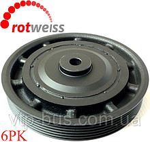 Ременной шкив коленчатого вала (6PK) на Renault Trafic 1.9dCi (+AC) (2001-2006) ROTWEISS (Турция) 7700113776
