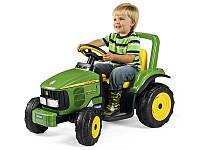 Детский Электромобиль Peg Perego трактор John Deere Power Pull 6V, мощность 50W, без прицепа