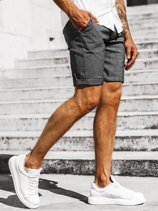 Котонові чоловічі шорти темно-сірі, фото 2