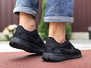 Мужские кроссовки летние Nike Free Run 3.0,черные, фото 3