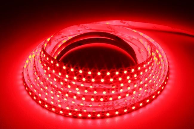 Стрічка червона 9,6W/м 120LED/м IP20 світлодіодна 8mm MTK-600R3528-12 №1