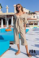 Женский летний костюм из льна 7-6-469, фото 1