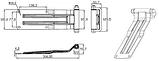 Петля задних дверей в сборе (316*100) цинк (100.01.003), фото 2