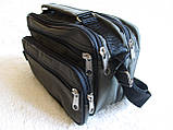 Мужская сумка через плечо прочная барсетка 8w2123 хаки 24х16х13см, фото 2