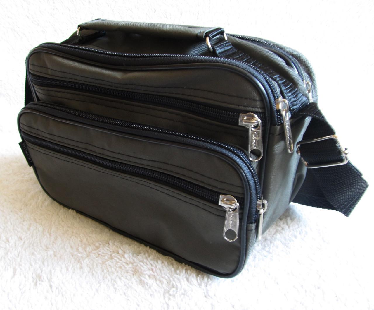 Мужская сумка через плечо прочная барсетка 8w2123 хаки 24х16х13см