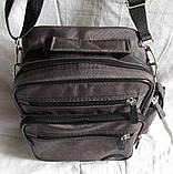 Мужская сумка через плечо барсетка 8w2665 хаки 20х25х16см, фото 4