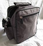 Мужская сумка через плечо барсетка 8w2665 хаки 20х25х16см, фото 6