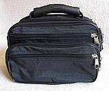 Сумка мужская через плечо деловая барсетка в21231 черная 24х16х13см, фото 4