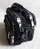 Сумка мужская через плечо деловая барсетка в21231 черная 24х16х13см, фото 3