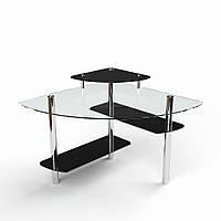 Стол компьютерный из стекла модель Фива