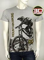 Качественная мужская футболка с рисунком 3Д на лето