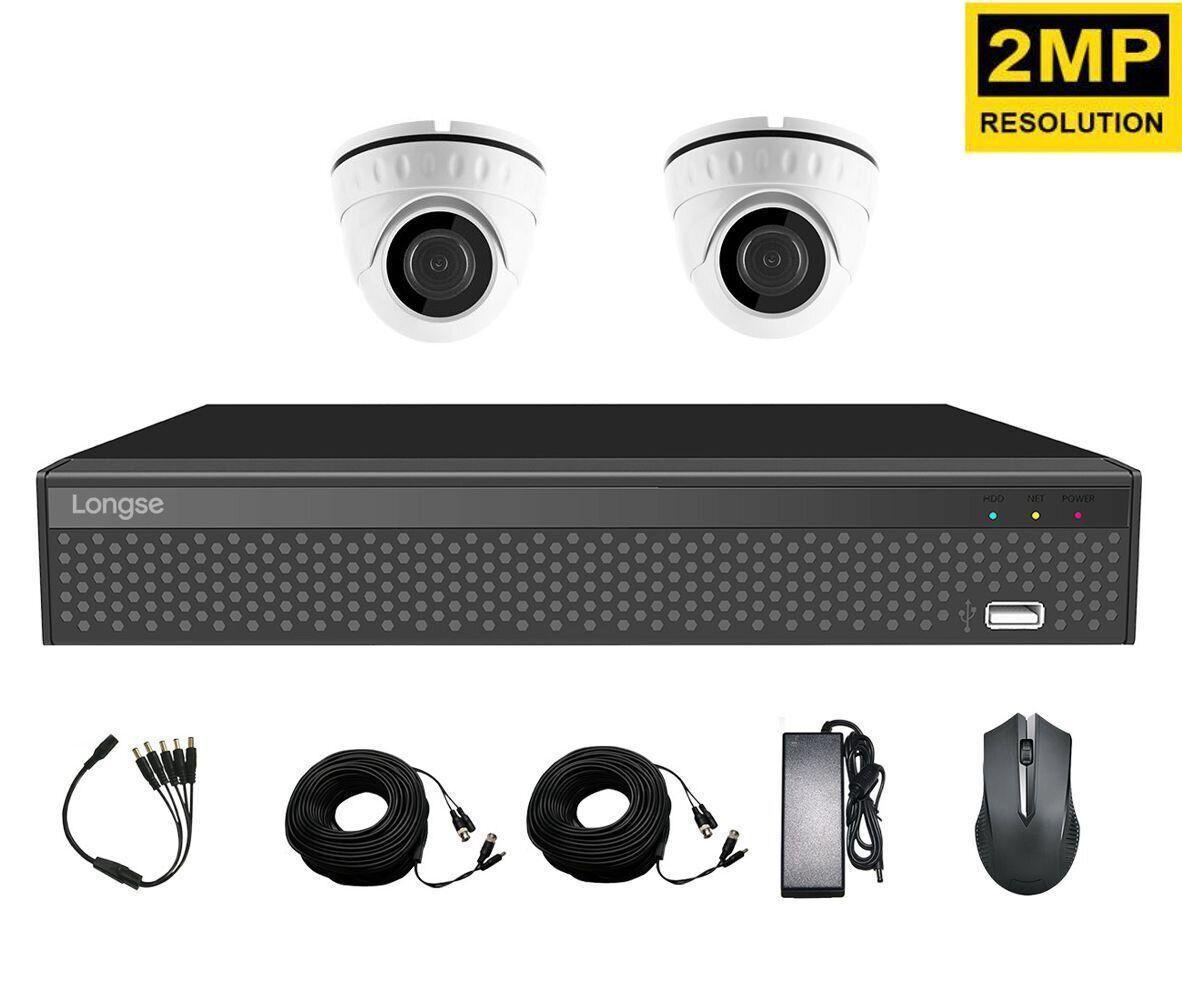 Комплект видеонаблюдения для квартиры на 2 камеры Longse XVRA2004D2P200, 2 Мегапикселя, FullHD 1080P