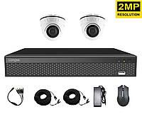 Комплект видеонаблюдения для квартиры на 2 камеры Longse XVRA2004D2P200, 2 Мп, FullHD 1080P