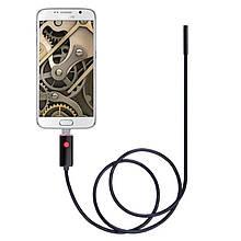 USB эндоскоп для смартфона и ноутбука HD 480P Kerui 551S, 1 метр, 5.5 мм, мягкий кабель