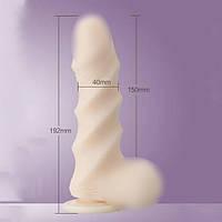 Фаллоимитатор Leten Super Muscle Large (19,2 см). Фаллоимитаторы на присоске