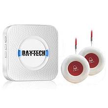 Беспроводная система вызова медперсонала с 2-мя кнопками Daytech CC02 до 150 метров, белая