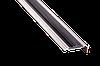 Порог для пола алюминиевый 7А с резинкой 0,9 метра серебро угловой 18х48мм скрытое крепление