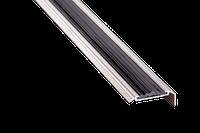 Порог алюминиевый 7А с резинкой 1.8 метра серебро угловой 18х48мм скрытое крепление , фото 1