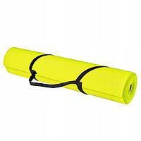 Коврик (мат) для йоги и фитнеса Springos PVC 4 мм YG0008 Yellow желтый