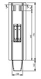 Средняя стойка борта 770 мм, КОМПЛЕКТ. Nevpa Турция (153-02-05-750), фото 2