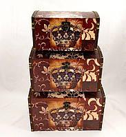 Набор из трёх сундуков Корона, декоративная мебель