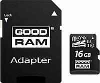 Карта памяти Goodram microSDHC 16GB UHS-I class 10 + adapter