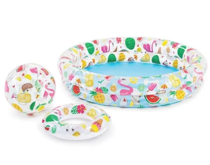 Детский бассейн  Circle Pool Set Intex 59460 выс. 25 см