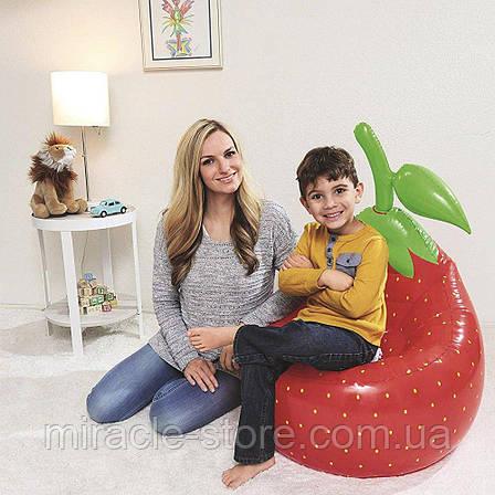 Надувное кресло BESTWAY клубника ананас баклажан 72см х 72см х 89 см, фото 2