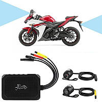 Видеорегистратор для мотоцикла на 2 камеры с пультом управления FHD 400, FullHD 1080P, G-sensor