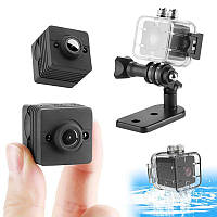 Водонепроницаемая камера - видеорегистратор SQ12, FullHD 1080P, 2 Мп, 80 минут записи