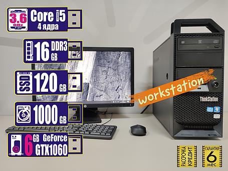 Рабочая станция Lenovo Thinkstation E31 Core i5-3470/16GB/SSD120GB+HDD1TB/1060 6gb, фото 2