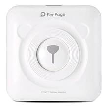 Портативный bluetooth термопринтер для смартфона PeriPage A6, белый