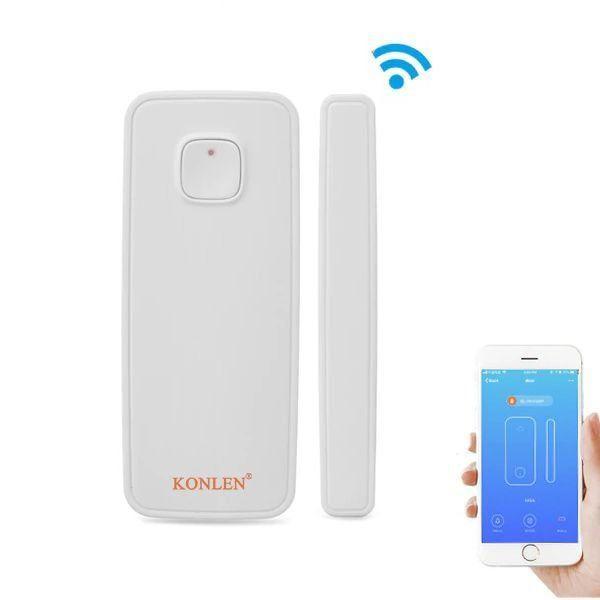 Умный wifi датчик открытия двери или окон Konlen KL-WD001, Iphone & Android App