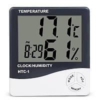 Электронный комнатный термометр гигрометр с часами KETOTEK НТС-1