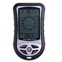 Многофункциональный 8 в 1 электронный компас, альтиметр, барометр, термометр, высотомер Digital MT-501, с часами, календарём, прогнозом погоды и