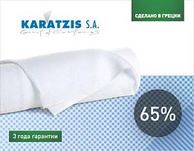 """Сітки для затінення """"KARATZIS"""" 65% біла 50 X 4 м"""