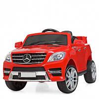 Детский электромобиль Машина Джип Mercedes красный для мальчика девочки 2 3 4 5 6 лет 3568EBLR-3