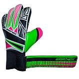 Вратарские перчатки SportVida SV-PA0002 размер 5. Футбольные перчатки зеленые, перчатки для футбола, фото 4