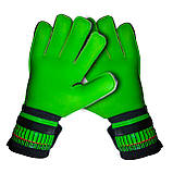 Вратарские перчатки SportVida SV-PA0002 размер 5. Футбольные перчатки зеленые, перчатки для футбола, фото 3