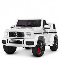 Детский электромобиль Машина Джип Mercedes белый для мальчика девочки 2 3 4 5 6 лет M 4280EBLR-1 2 мотора